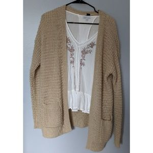 Forever 21 - Beige Knitted Cardigan